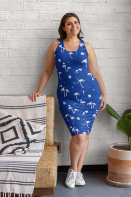 Beach to Bar Dress Navy
