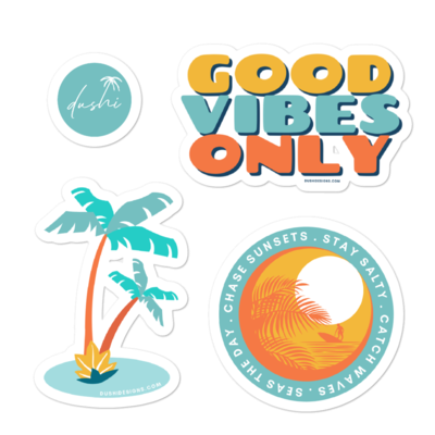 Good Vibes Summer Bubble-free stickers