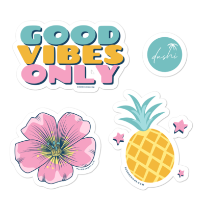Tropical Summer Bubble-free stickers