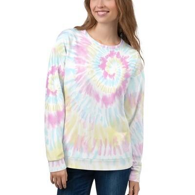 Tie Dye Cotton Blend Sweatshirt
