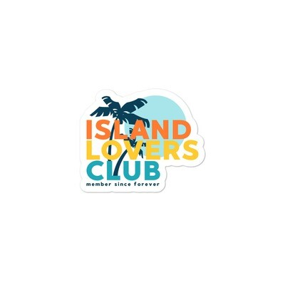 Island Lovers Club Bubble-free stickers