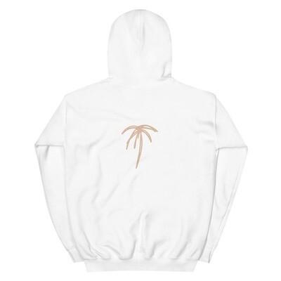 Dushi Palm White Unisex Hoodie