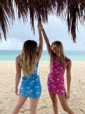 Beach to Bar Dress Pink