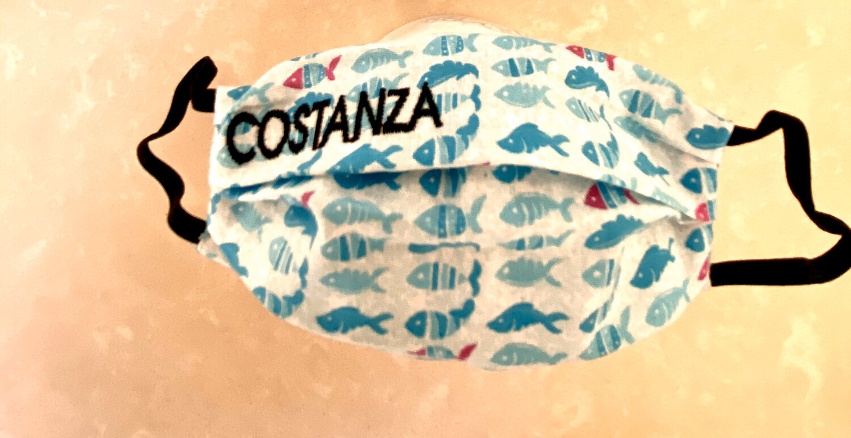 Mascherina Bambina/o Personalizzata  pesci azzurri