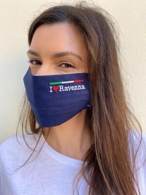Mascherina Ravenna blu Unisex
