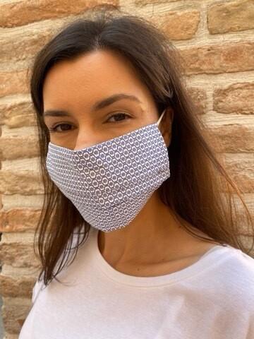 Mascherina Unisex fantasia Cravatta Blu