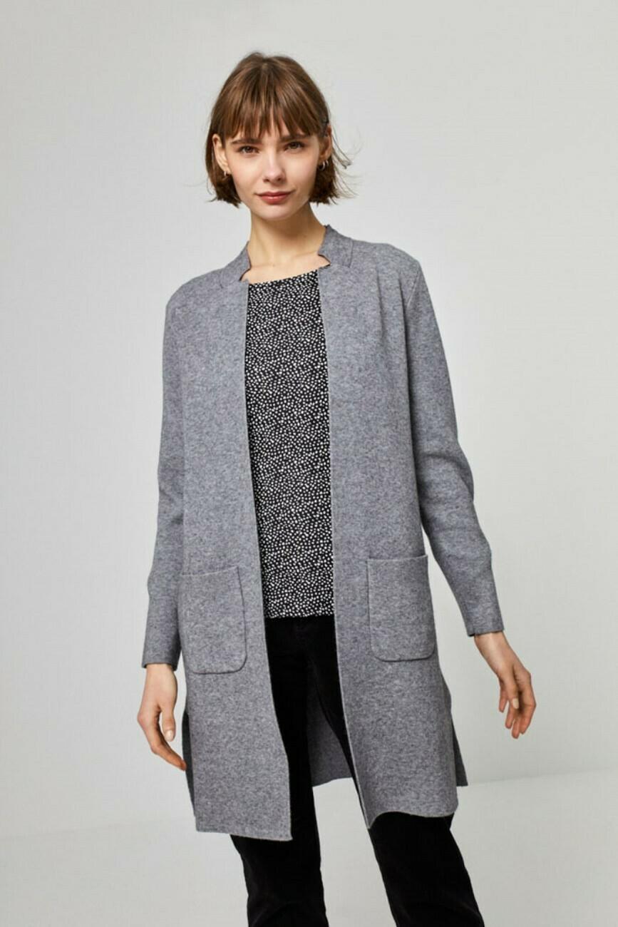 Surkana cardigan lungo grigio