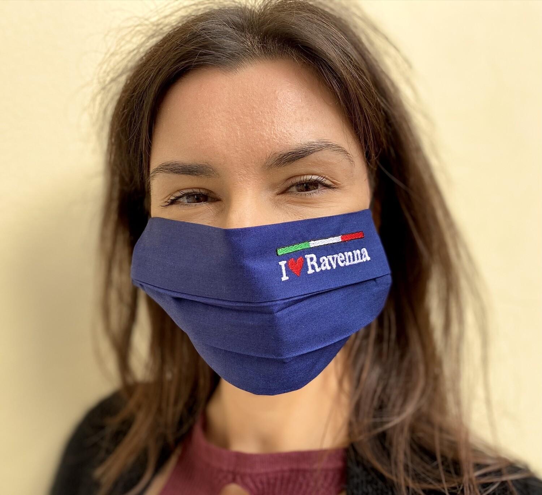 Mascherina Unisex Ravenna Blu