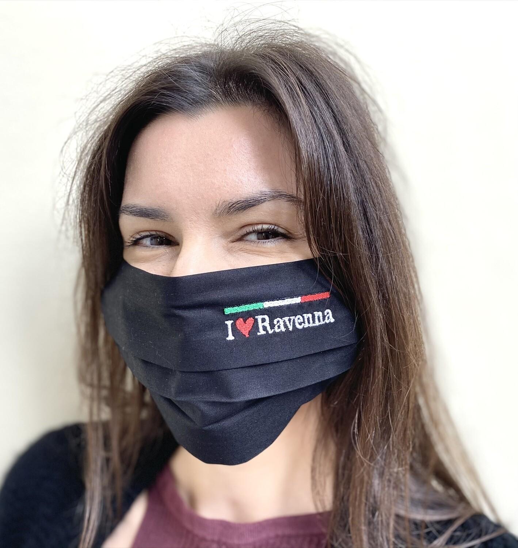Mascherina Unisex Ravenna nera