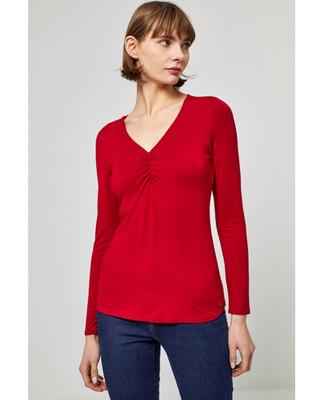 Surkana maglia con drappeggio rossa