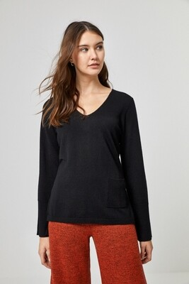Surkana maglia con tasca nera