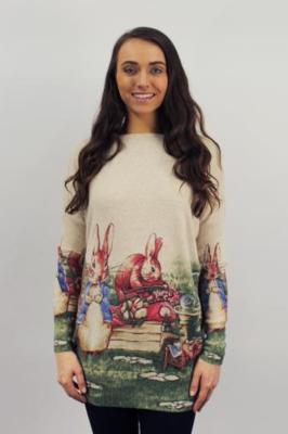 maglia con stampa conigli
