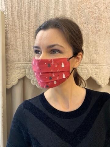 Mascherina Unisex Alberi Rossa