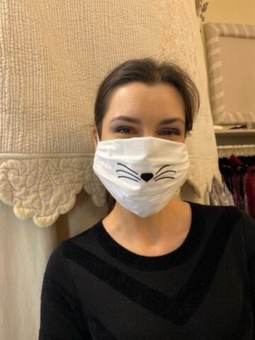 Mascherina Unisex Gatto Bianco