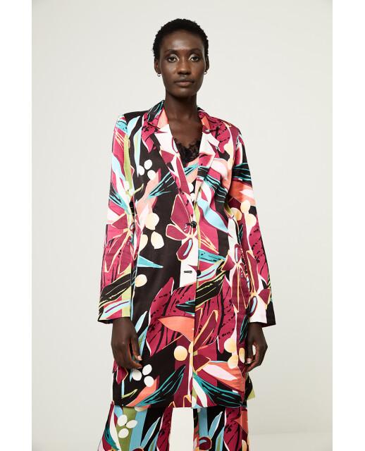 Surkana giacca fantasia fiori