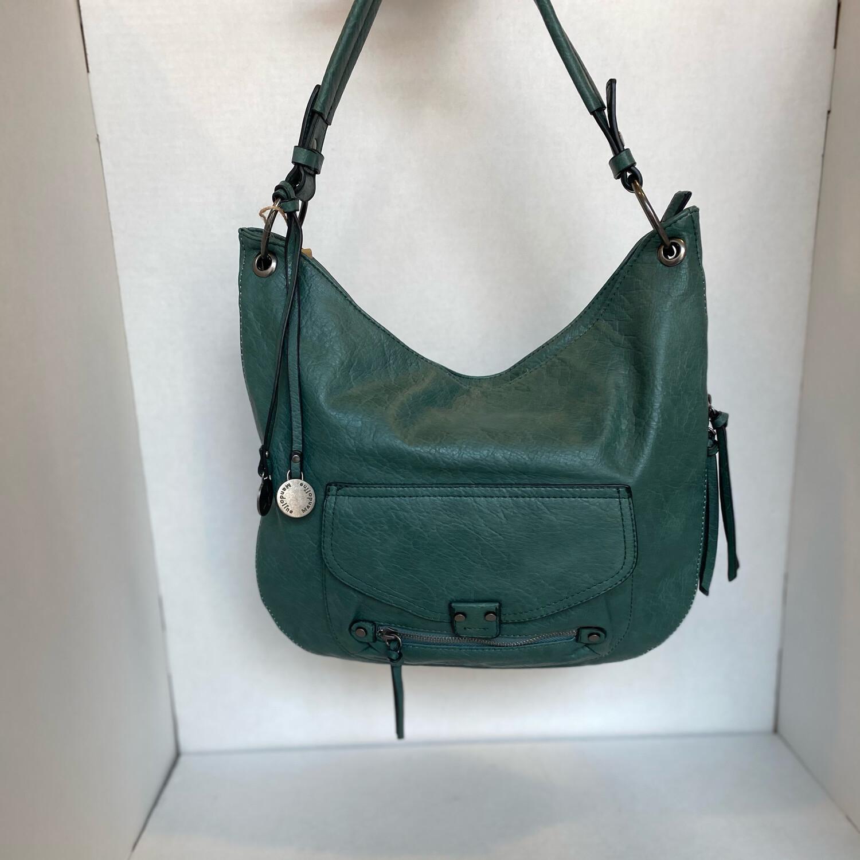 Borsa con tasca verde