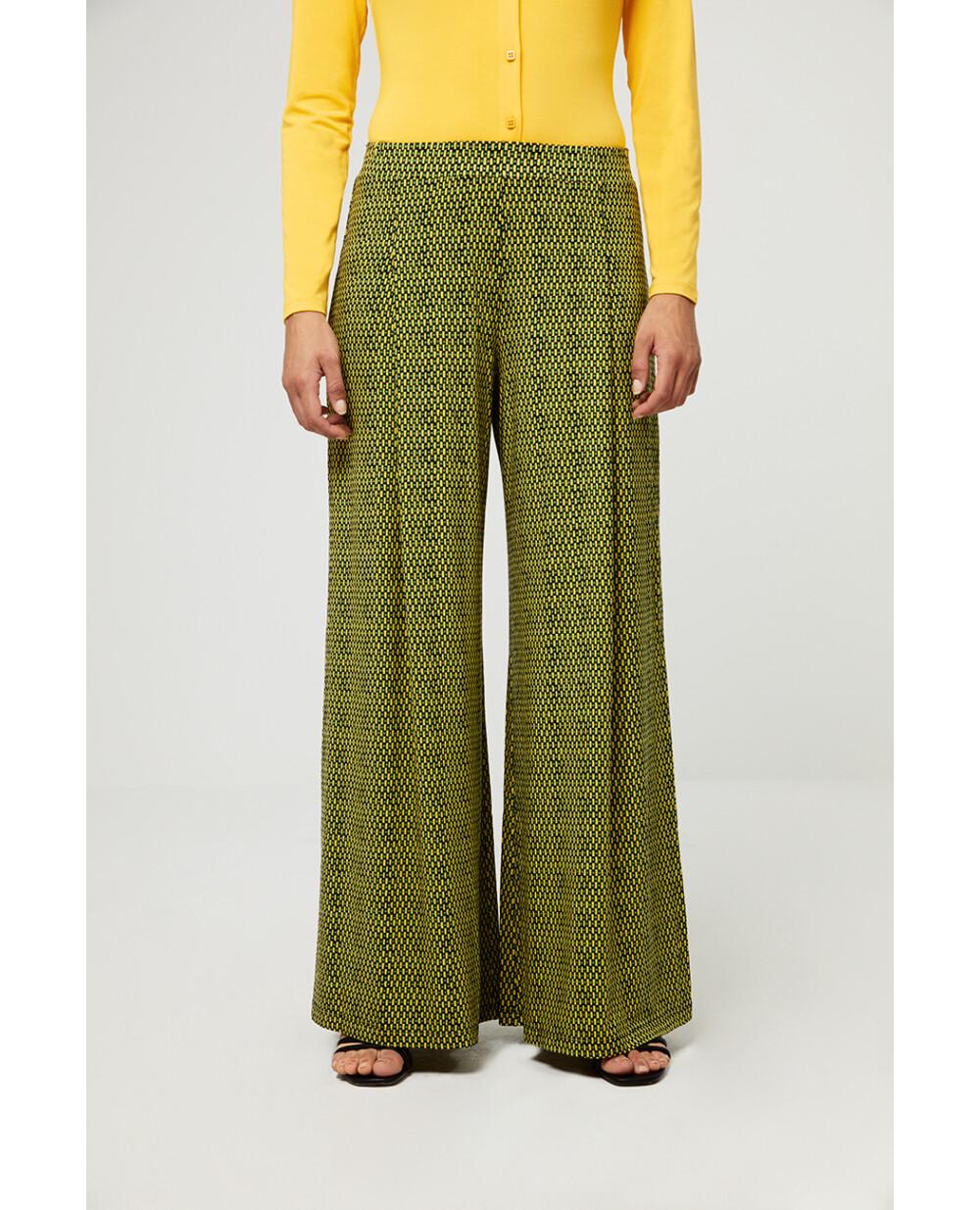 Surkana pantalone microfantasia verde