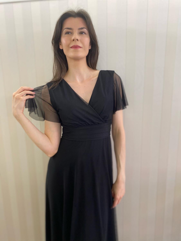 Collezione cerimonia abito tulle con manica nera