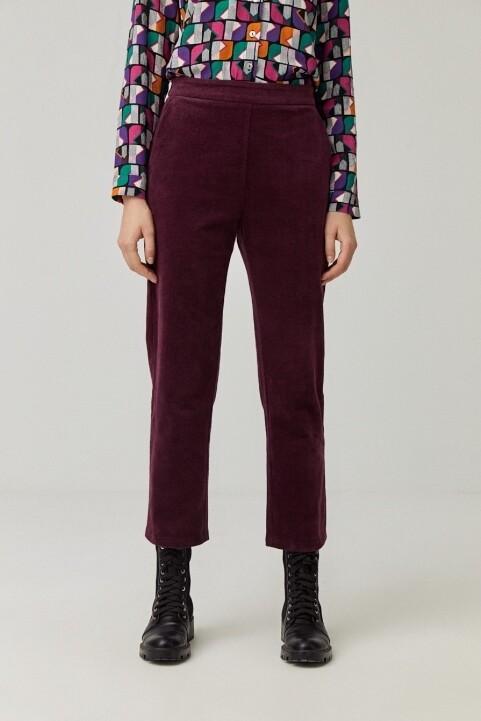 Surkana pantalone velluto vignaccia