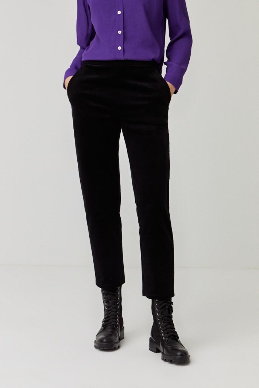 Surkana pantalone velluto nero