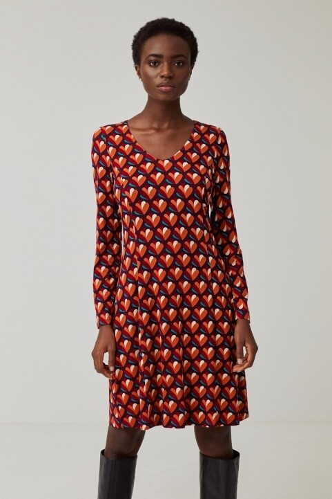 Surkana abito fantasia ventagli arancio
