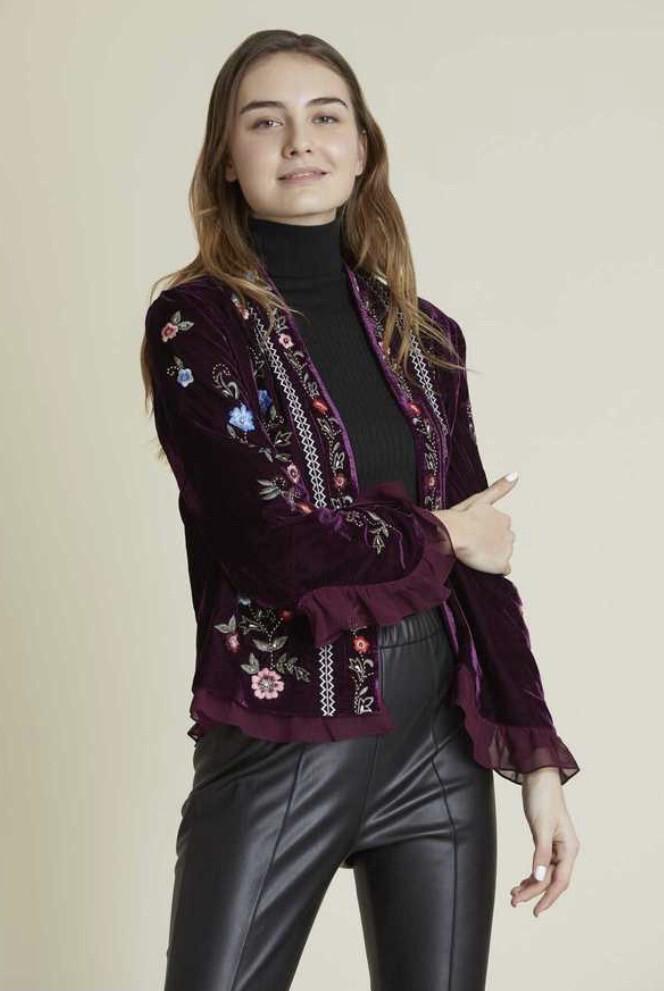 Derhy giacca in velluto color vinaccia