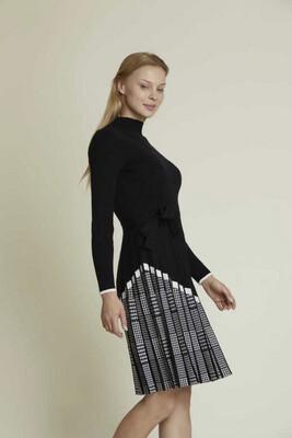 Derhy abito in maglia nero