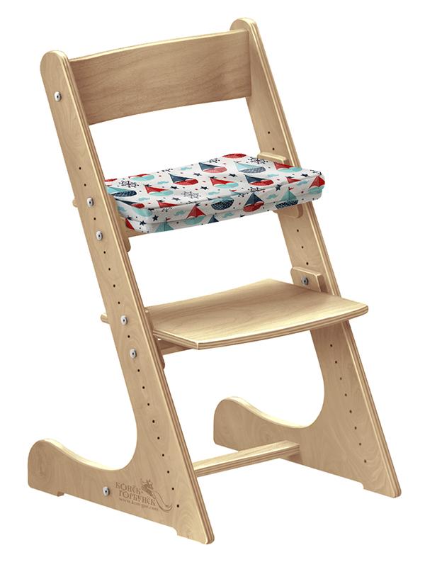 """Мягкая подушка для стула Конек Горбунек """"Кораблики"""""""