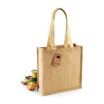 SHOPPER JUTA CON MANICI IN COTONE