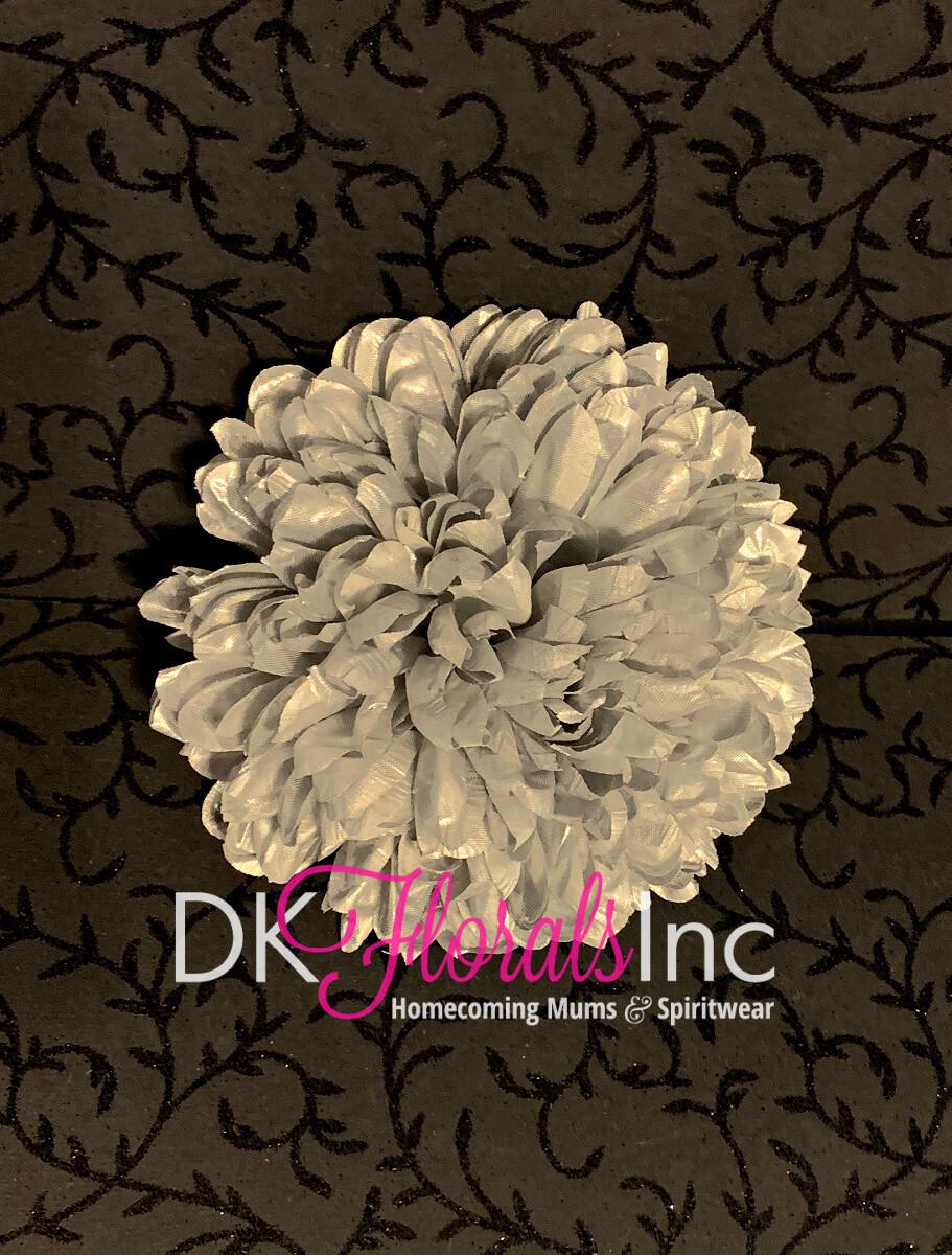 Silver Metallic Lame - Homecoming Mum Flower