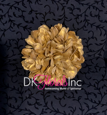 Gold Lame Flowers - Homecoming Mum Flower