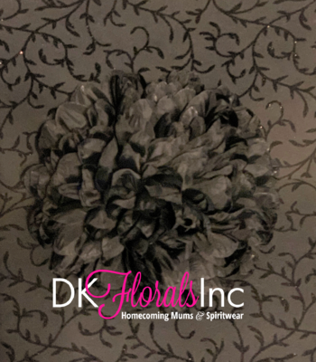 9.5 Jumbo Homecoming Mum Flower - Black
