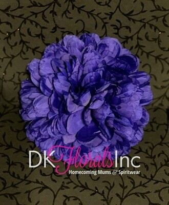 9.5 Jumbo Homecoming Mum Flower - Royal Blue