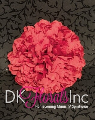 9.5 Jumbo Homecoming Mum Flower - Red