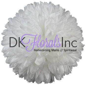 White 9.5 inch Flower - 25 layer
