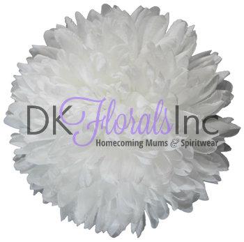 White 7.25 inch Flower - 15 layer
