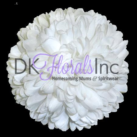 White 6.5 inch Flower - 15 layer