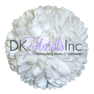 White 6.5 inch Flower - 15 layer