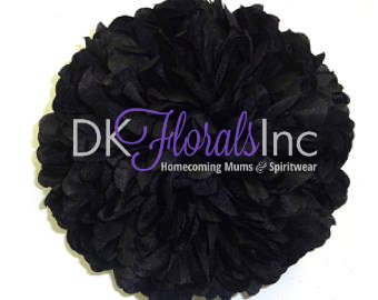 Black 6.5 - Homecoming Mum Flowers