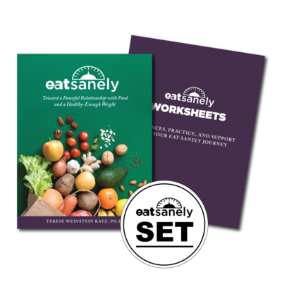 Eat Sanely Book & Worksheets (Paperback Set)
