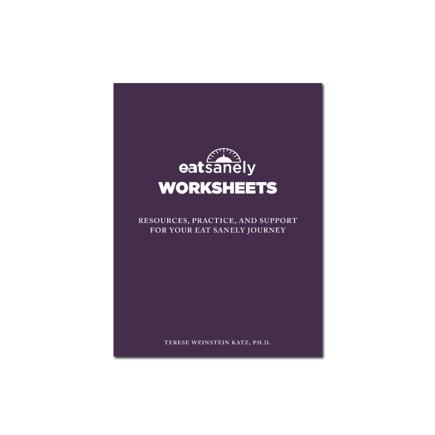 Eat Sanely Worksheets (Paperback)