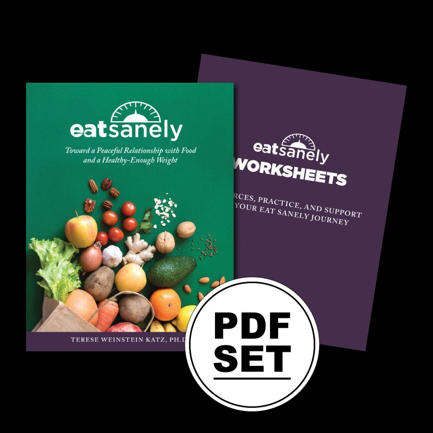 Eat Sanely Book & Worksheets (PDF Set)