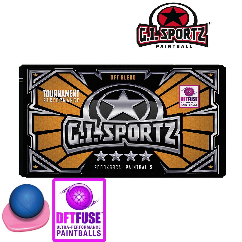 G.I. Sportz 4-Star .68 cal Paintballs - Case of 2000 Rds - Sapphire Shell - Pink Fill
