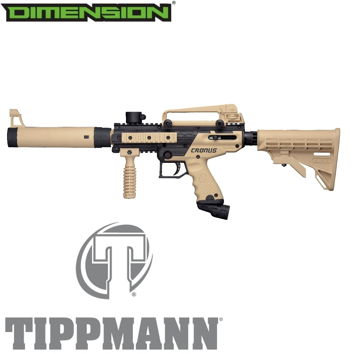 Tippmann Cronus Tactical .68 Cal Marker - Black / Tan
