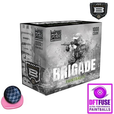 G.I. Sportz Brigade .68 cal Paintballs - Case of 1000 Rds - Grey Shell - Pink Fill