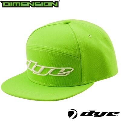 Dye Snap Back Hat Logo - Lime