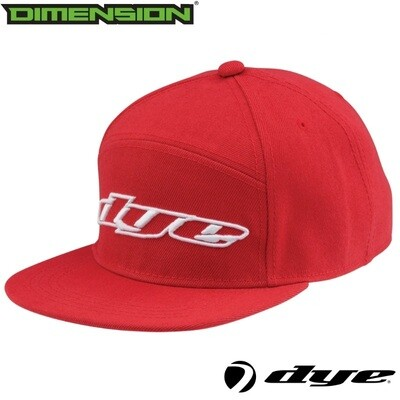 Dye Snap Back Hat Logo - Red