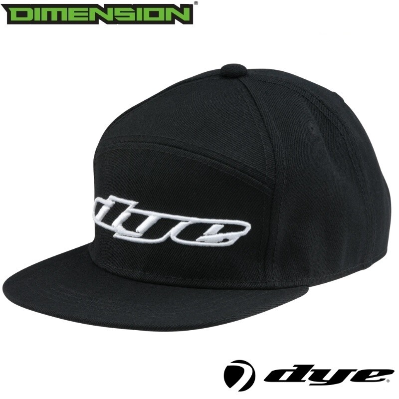 Dye Snap Back Hat Logo - Black