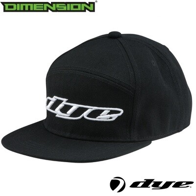 Dye Snap Back Hat Logo - Black