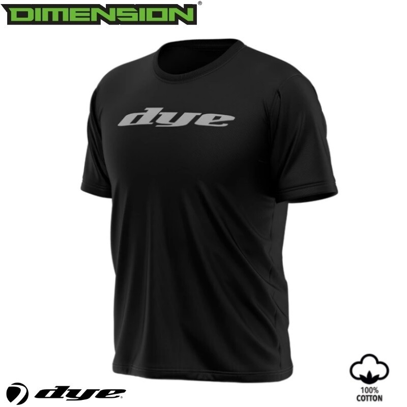 Dye T-Shirt Logo - Black - M